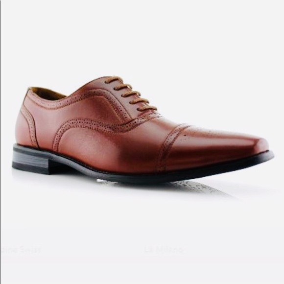 Ferro Aldo Mens 139001P Patent Leather Wing Tip Classic Lace Up Dress Oxfords Shoes